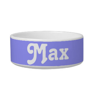 Personalized Dog Food Bowl Male Names : Max