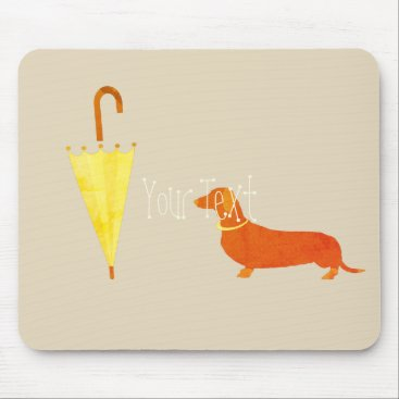 Beach Themed Personalized Dog Illustration Add Text Mousepad