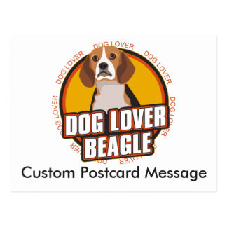 Personalized Dog Lover Beagle Dog Breed Postcard