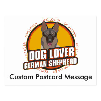 Personalized Dog Lover German Shepherd Dog Breed Postcard