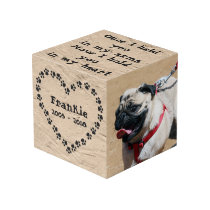 Personalized Dog Memorial Cube