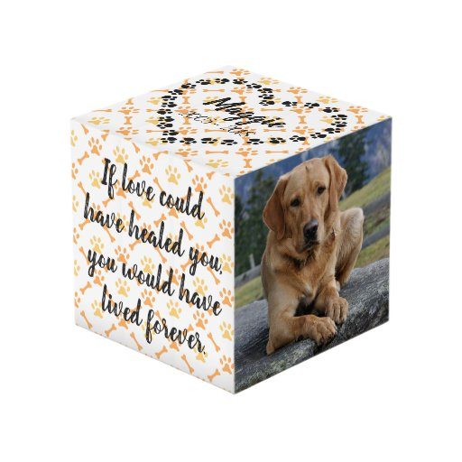 Personalized Dog Memorial Photo Cube Keepsakes - Let\'s Personalize That