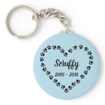 Personalized Dog Memorial Keychain