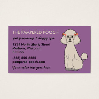 Personalized Dog or Pet Business Cards (plum)