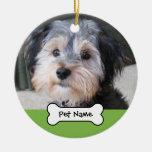 Personalized Dog Photo Frame - SINGLE-SIDED Ceramic Ornament