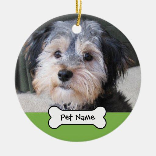 Personalized Dog Photo Frame - SINGLE-SIDED Christmas Ornament
