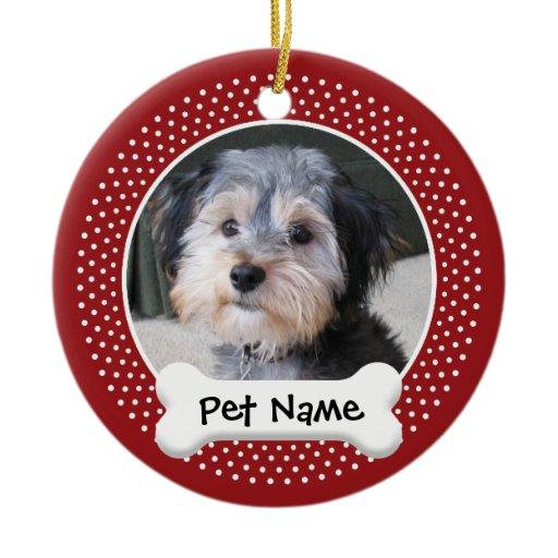 Dog Bone Picture Frame Ornament