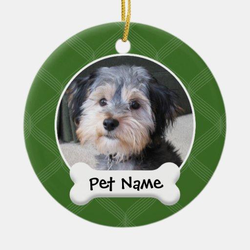 Personalized Dog Photo Frame - SINGLE-SIDED Christmas Tree Ornament