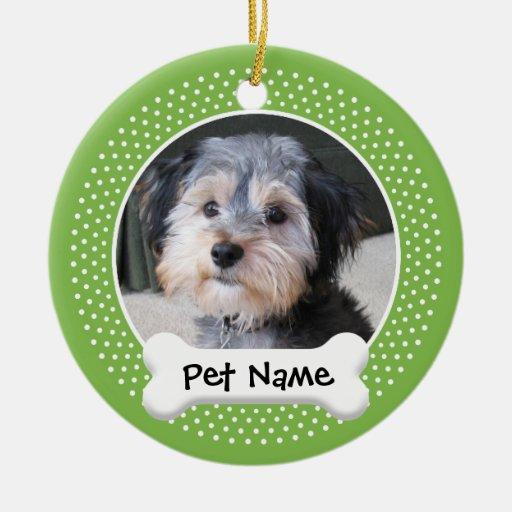 Personalized Dog Photo Frame - SINGLE-SIDED Christmas Tree Ornaments