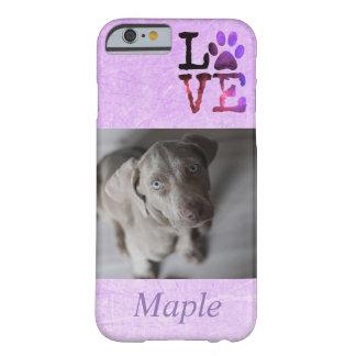 Personalized Dog Photo & Name Pawprint Phone Case