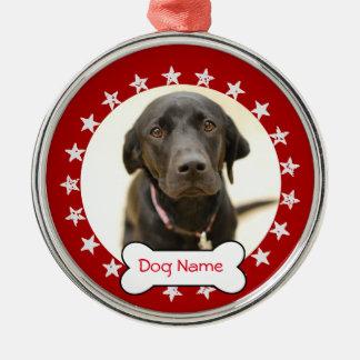 Personalized Dog Photo Ornament - Stars