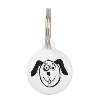 Personalized dog tag with cute cartoon design