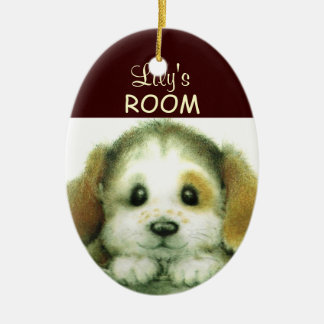 Personalized Doggy Door Sign Ceramic Ornament