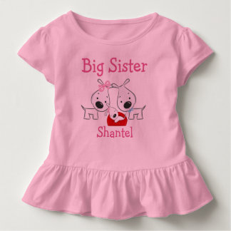 Personalized Dogs Big Sister Toddler T-shirt