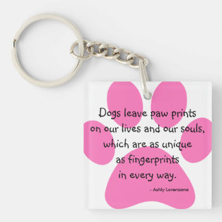 Personalized Dogs Leave Paw Prints Lives Keychain