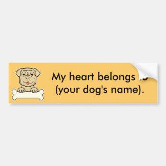 Personalized Dogue de Bordeaux Bumper Sticker
