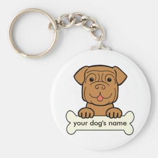 Personalized Dogue de Bordeaux Keychain