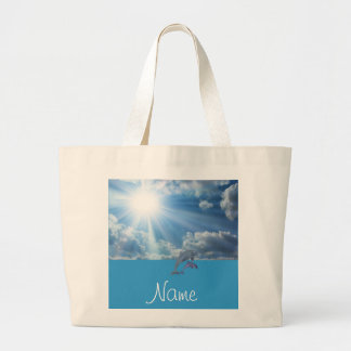 Personalized Dolphin Beach Bag