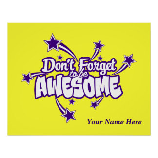 Personalized Don't Forget to Be Awesome Joy Poster