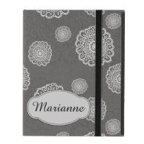Personalized Doodle Flowers iPad Covers
