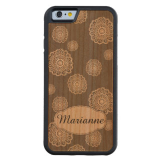 Personalized Doodle Flowers Carved® Cherry iPhone 6 Bumper Case
