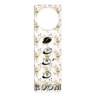Personalized Door Handler, Bunnies & candy letters Door Hanger
