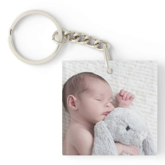 Personalized Double Sided Baby Photo Keychain