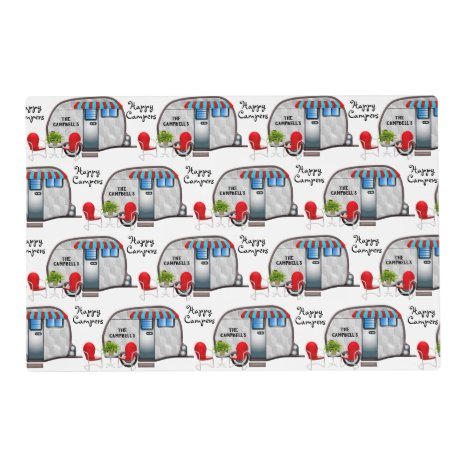 Personalized Double Sided Camper Placemat