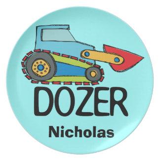 Personalized Dozer Kids Plate