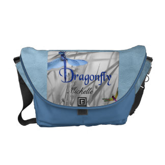 Personalized Dragonfly Messenger Bag