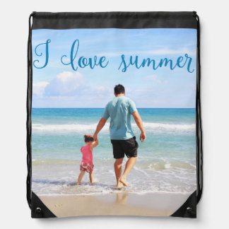 Personalized Drawstring Backpack Add Photo