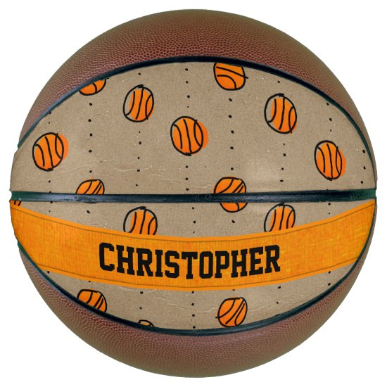 Personalized Dribbling Basketball Pattern