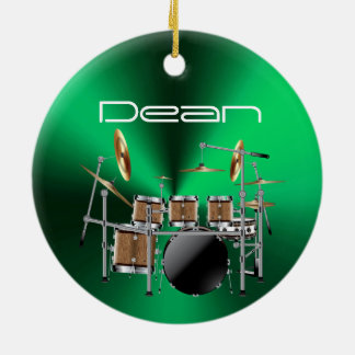 Personalized Drummer Musical Christmas Ornament