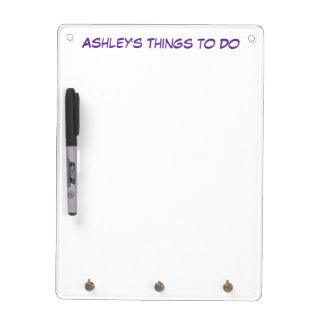 Personalized Dry Erase Board with Key Holder