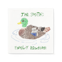 Personalized duck paper napkins