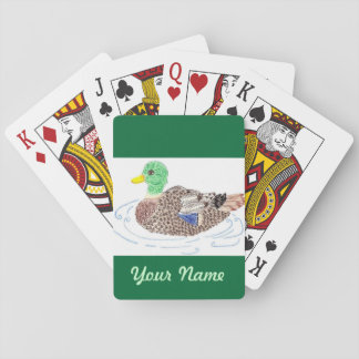 Personalized duck playing cards