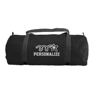 Personalized duffle gym bag with shooting star gym duffel bag