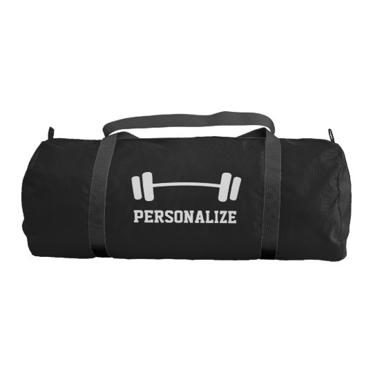 7ca127d2f3c1 Personalized dumbbell weightlifting duffle gym bag