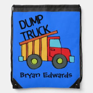 Personalized Dump Truck Drawstring Bag