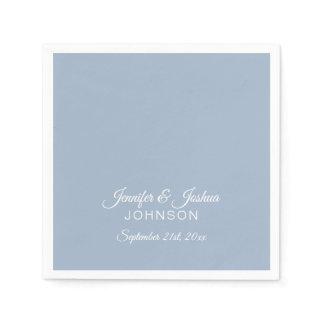 Personalized Dusty BLUE Wedding Napkins
