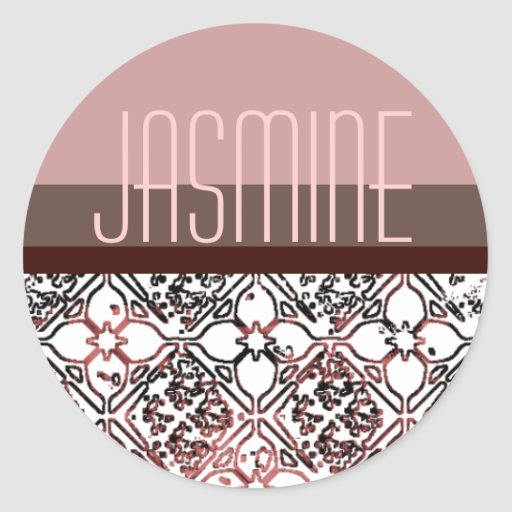 Personalized Dusty Pink and  Floral Stickers