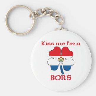 Personalized Dutch Kiss Me I'm Bors Key Chain