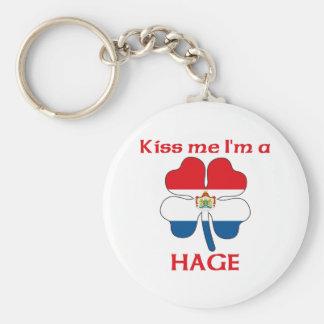 Personalized Dutch Kiss Me I'm Hage Keychain