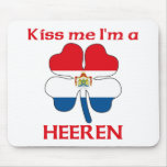 Personalized Dutch Kiss Me I'm Heeren Mouse Pad