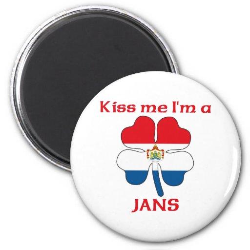 Personalized Dutch Kiss Me I'm Jans Magnet