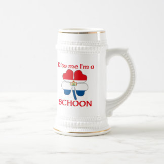 Personalized Dutch Kiss Me I'm Schoon Beer Stein