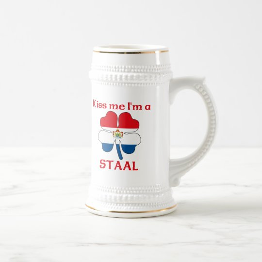 Personalized Dutch Kiss Me I'm Staal Beer Stein