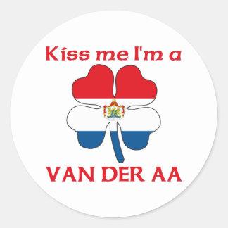 Personalized Dutch Kiss Me I'm Van Der Aa Round Sticker