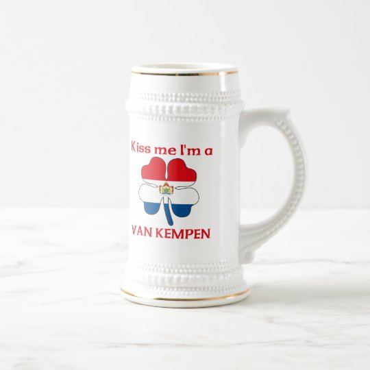 Personalized Dutch Kiss Me I'm Van Kempen Beer Stein