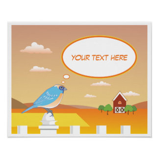 Personalized Early Bird on the Farm Child's Poster